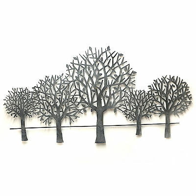 Wall Art Tree Scenery Hanging Metal Iron Sculpture BIG Shabby Modern 84cm 3364