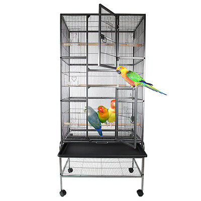grande voli re cage oiseaux canaries perruches. Black Bedroom Furniture Sets. Home Design Ideas