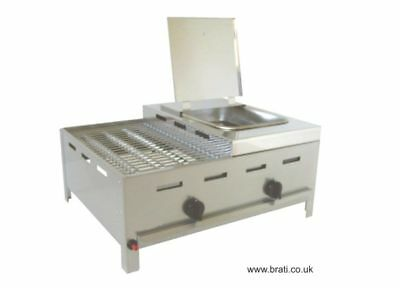 LPG CHAR GRILL / HOT DOG BOILER - combination