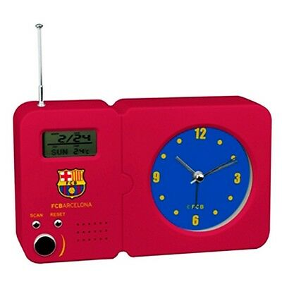 FC Barcelona Official Football Crest Radio With Clock