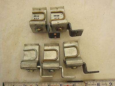 Square D 9999 S-5 200A 250V, 600V Fuse Clip Lot of 5 (One missing), New