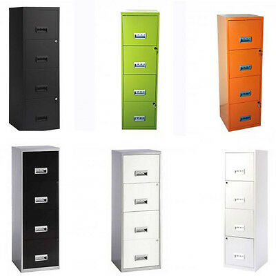 Metal Filing Cabinet 4 Drawer Lockable A4 Files Draw Office Storage Stationary