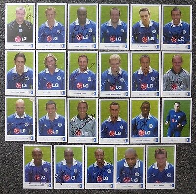 2001-02 Leicester City Signed Official Club Cards - £5 each