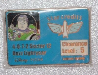 Disney Shopping Buzz Lightyear Toy Story LE 250 Credit Card Series DS Pin