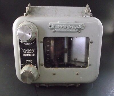 Inshore Graphic Sounder Ferrograph Made In England Cold War Era ?