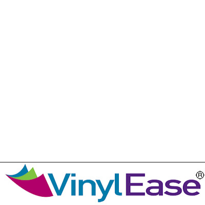 One 12 in x 40 ft Roll Glossy White Permanent Craft and Sign Vinyl V0427