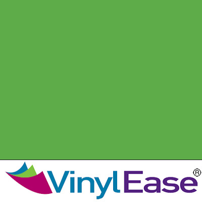 One 12 inch x 40ft Roll Glossy Lime Green Permanent Craft and Sign Vinyl V0445