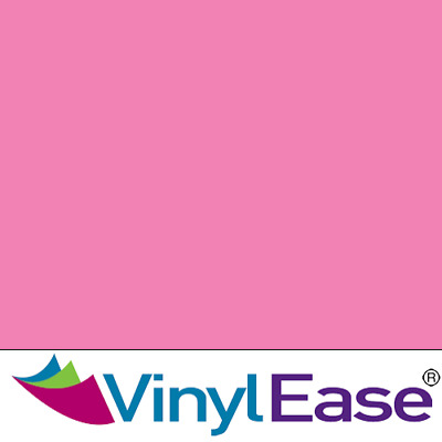 One 12 inch x 40ft Roll Glossy Pink Permanent Craft and Sign Vinyl V0441