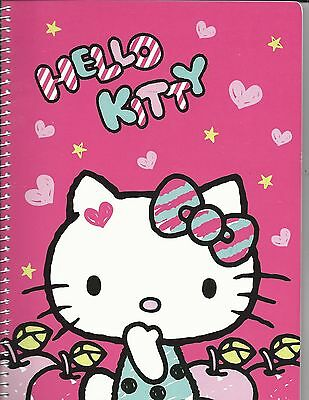 Sanrio Hello Kitty Full Size Spiral Notebook Apples