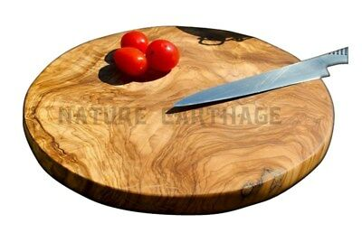 Cadeau maman Planche Ronde en bois d'olivier | OLIVE WOOD ROUND BOARD MUM GIFT