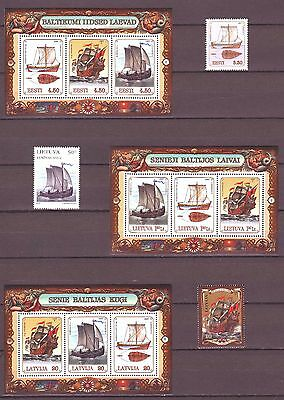 "Latvia / Lithuania / Estonia - 1997 ""Old Ships"" Joint Issue (MNH)"