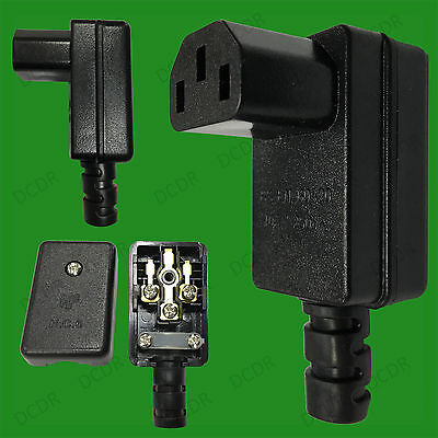 Rewire-able Right Angle IEC Female C13 10A Connector 90 Degree PC/Kettle Socket