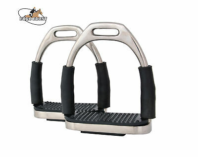 Flexi-Safety-Irons-Stirrups-Horse-Riding-Bending-Stainless-Steel