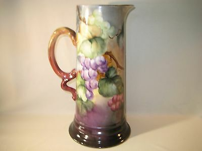 """""""Bavarian"""" Hand Painted Porcelian Tankard with Grapes"""