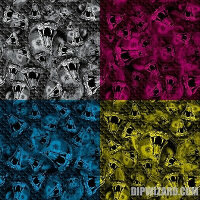 Cobra Snake Film Hydrographic Water Transfer Hydro Dipping Dip Wizard 50Cm 1/2 M