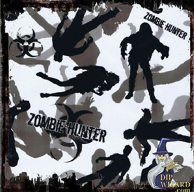 Zombie Hunter Film Hydrographic Water Transfer Hydro Dipping Dip Wizard 50Cm