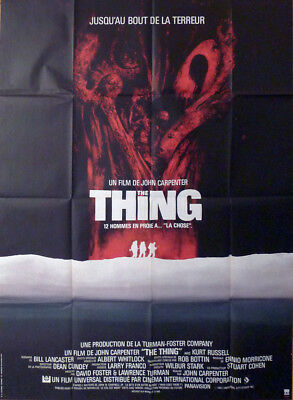 The Thing - Carpenter / Russell - Original Large French Movie Poster