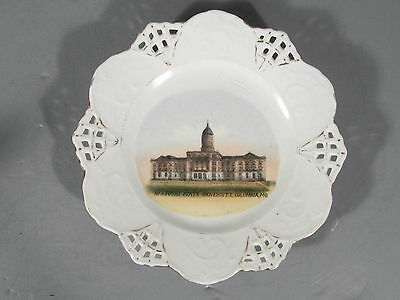 Souvenir China Plate From Missouri State University in Columbia