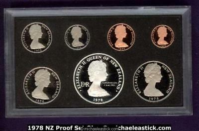 1978 New Zealand Proof Coin Issue in presentation case, incl COA