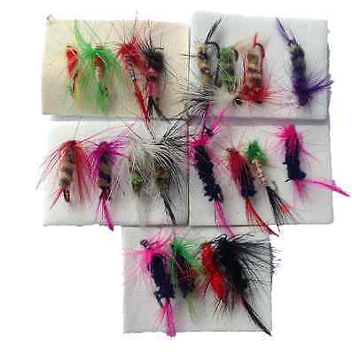 20 Fishing Flies Dry Fly Fishing Lures Trout Redfin Callop Salmon Freshwater