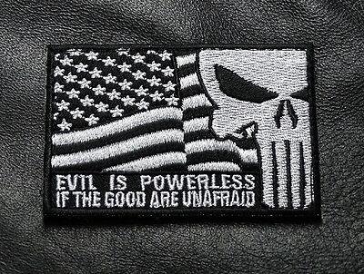 Usa Flag Punisher Evil Is Powerless If Good Police Swat Army Hook Patch(P4)