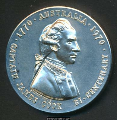 1770-1970 State Savings Bank of Victoria Silver Captain Cook Medal