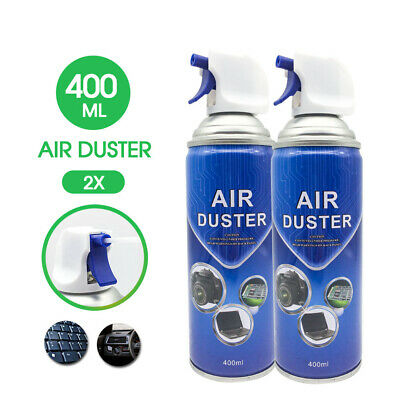 2x New Compressed Air Duster Cleaner 400ml Laptop PC Keyboard Camera AU STOCK