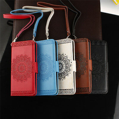 Magnetic Pattern Flip Leather Wallet Card Slot Case Cover For Samsung S8 S8 Plus