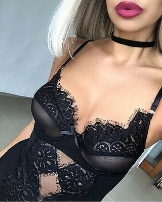 Sexy Lingerie Lace Dress Babydoll Womens Underwear Nightwear Sleepwear Bodysuit