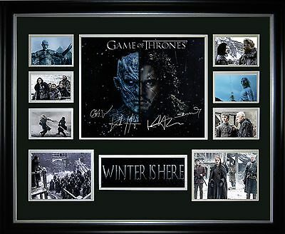 Game of Thrones Winter Is Here Limited Edition Framed Memorabilia