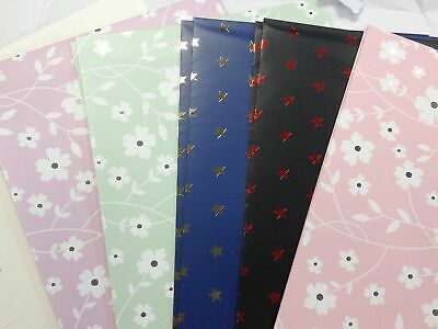 10 Sheets of Soft Touch Foiled Gift Wrap Wrapping Paper- Birthday, Christmas etc