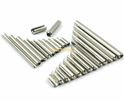 200 M3 x 10mm 304 Stainless Steel Slotted Spring Tension Pin Sellock Roll Pin