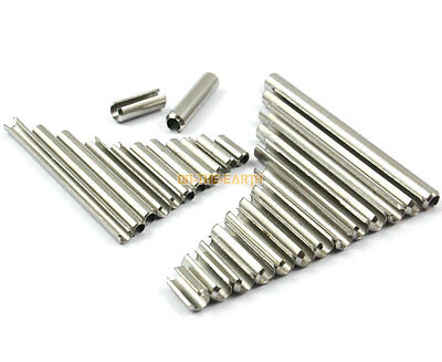 100 M3 x 30mm 304 Stainless Steel Slotted Spring Tension Pin Sellock Roll Pin
