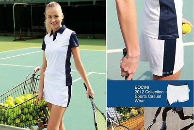Ladies girls Tennis Sports Polo Casual Wear with Lycra Slimline 100% Polyester