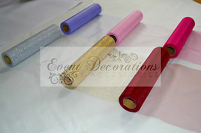 "25 Yard Roll Of 12"" Wide Eleganza Tulle - 13 Colours, Wedding Favours Decoration"