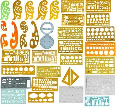 Stencils- French Curve, Circle, Eclipse, Archietect Templates, Set Squares