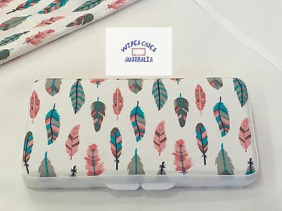 White Feathers Baby Wipes Case - Perfect Gift For Baby Shower