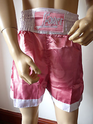 Force Boxing / Martial Arts Pink & White Shorts   Various Sizes  Bnnt