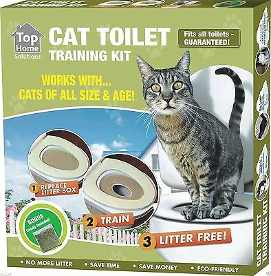 Cat Kitty Toilet Training System Potty Pet Litter Tray Kit Smart Free Nip Pet