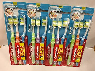 Pack of 12 Colgate Extra Clean Toothbrushes Medium