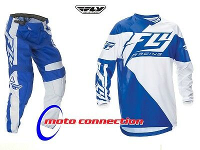 MX Kit - FLY F16 BLUE WHITE - MOTORCROSS ENDURO OFF ROAD - ALL SIZES FREE p&p
