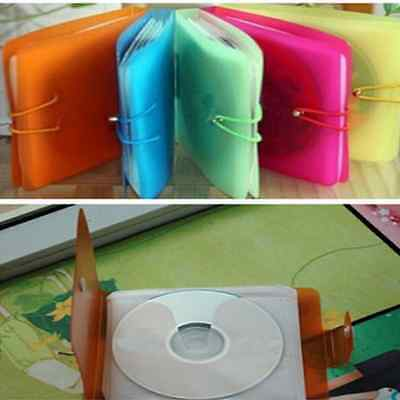 12 Pcs Durable CD DVD DISC Storage Case Bag Cover Plastic Sleeve Holder Pack
