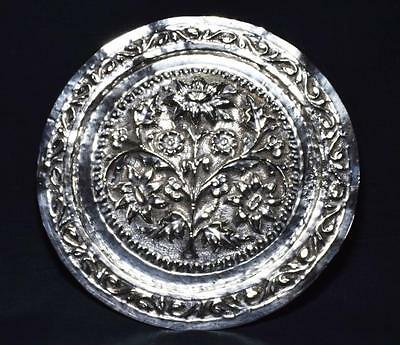 Indian Silver Plated Salver/Card Tray, Mid to Late 19thC.