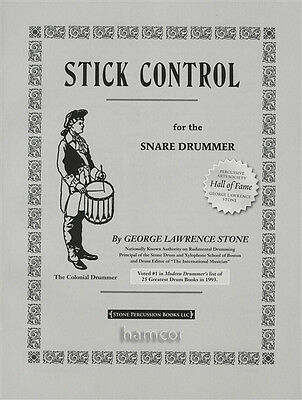 Stick Control for the Snare Drummer Drum Music Exercise Study Book George Stone