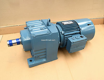 SEW-Eurodrive 3-Phase 1.5kW Electric Motor GearBox Gear-Motor 38RPM Brake