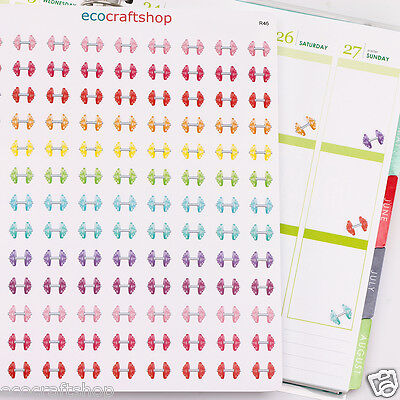 WORK OUT EXERCISE DUMBBELL SPORT GYM DAY TIME Condren Erin Planner Stickers R46