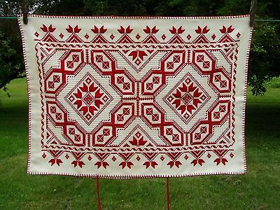 Antique HARDANGER Embroidery Pillow Case Museum Quality Norway Handwork Dowry Pc
