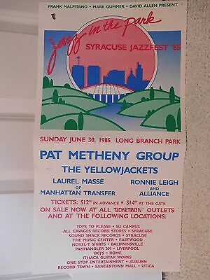 Syracuse, Ny Jazzfest 1985 Concert Poster     Pat Metheny Group    Awesome+Rare