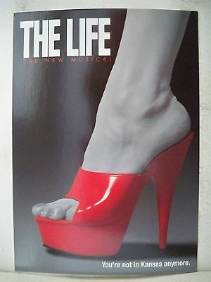 THE LIFE Herald / Postcard CY COLEMAN  Barrymore Theatre NYC 1997