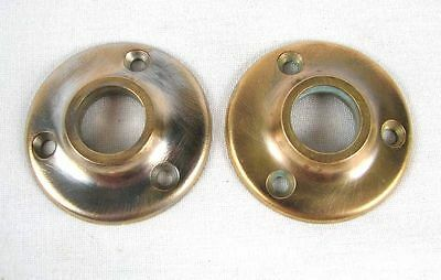 Pair of Vintage Polished Brass Door Plates
